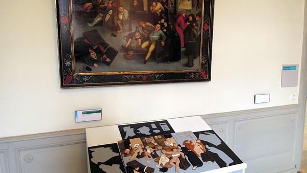 Maquette de L'excision de la Pierre de Folie d'après Bruegel l'Ancien. Inv. 0147 CM (© K. Delplace – Delta FM)