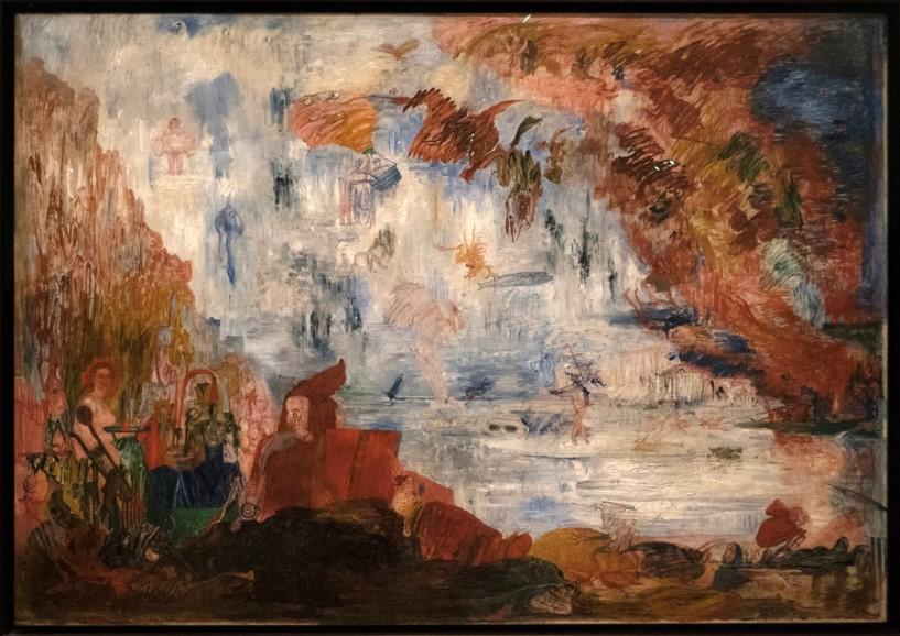 James ENSOR, expressionniste Les Tribulations de St Antoine, Ostende (1887) = face à un monde de tentations et de menaces