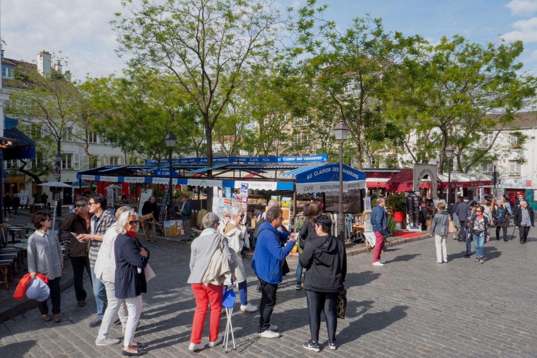 La place du Tertre le cœur du quartier Montmartre